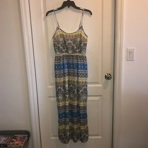 Multicolor tribal print maxi with side splits